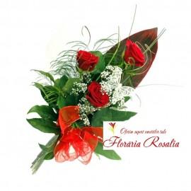 Buchet 3 trandafiri rosii