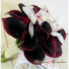 Buchet cale si orhidee cymbidium