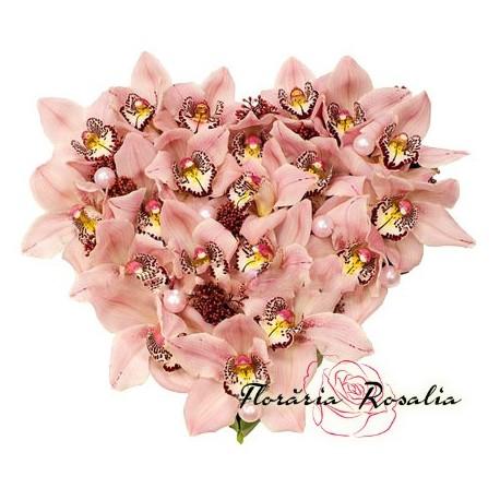 Inima cu orhidee