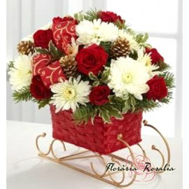 Saniuta cu flori
