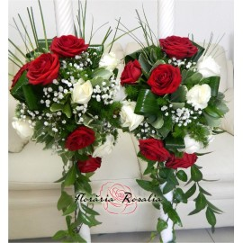 Lumanari currgatoare cu trandafiri