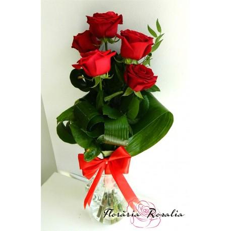 Buchet 5 trandafiri