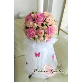 Lumanate botez in tonuri de roz