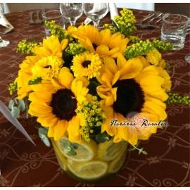 Aranjament cu 7 floarea soarelui