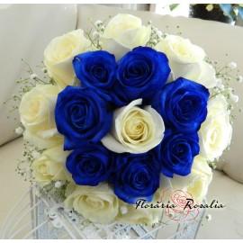 Buchet albastru-alb