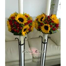 Lumanari cu floarea soarelui