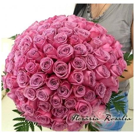 Buchet 101 trandafiri mov
