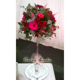 Aranjment trandafiri, miniroze, astilbe