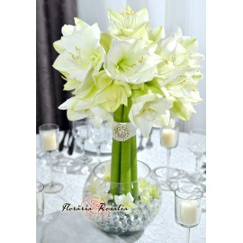 Aranjament cu Amarillys alb