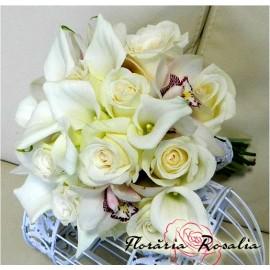 Buchet cale, trandafiri si orhidee
