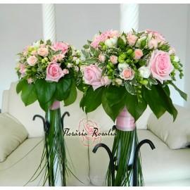 Lumanari trandafiri, miniroze si frezii