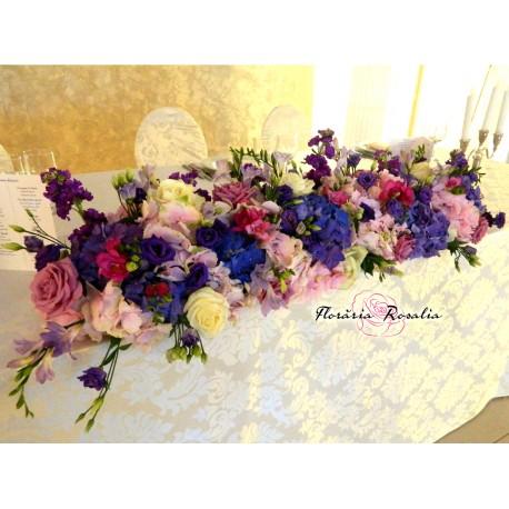 Preziiu cu hortensii mov-roz