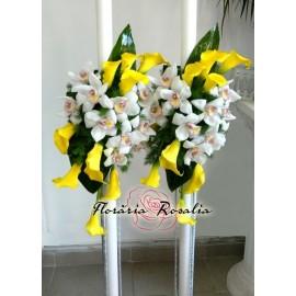 Lumanari cu orhidee si cale galbene
