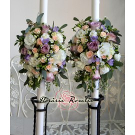 Lumanari laterale cu flori mixte