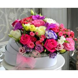 Cutie landou cu flori roz