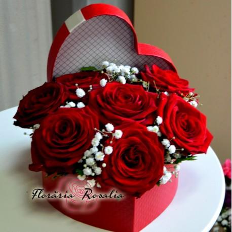 Inima cu 7 trandafiri