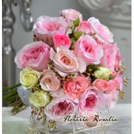 Buchet cu trandafiri Davis Austin si miniroze