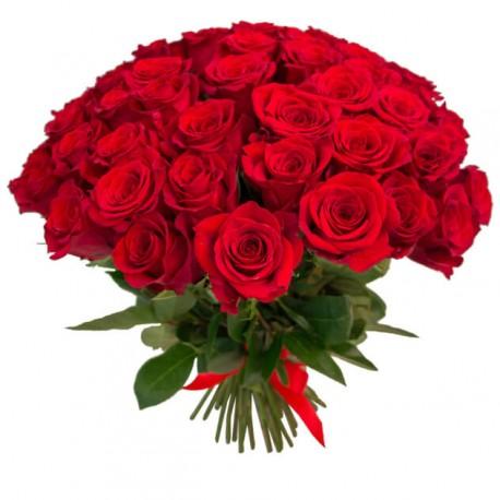 Buchet 49 trandafiri rosii