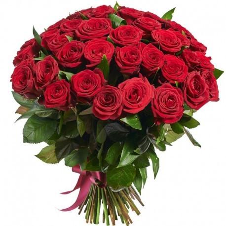 Buchet 55 trandafiri rosii