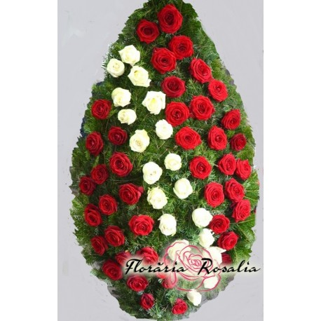 Coroana 60 trandafiri