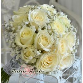 Buchet mireasa 11 trandafiri