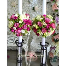 Lumanari sferice lila