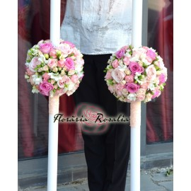 Lumanri sfera in tonuri de roz