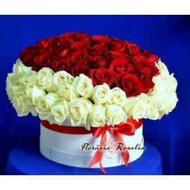 Cutie cu 101 trandafiri