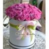 Cutie cu 49 trandafiri roz