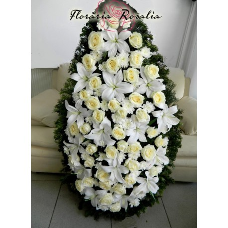 Coroana crini, trandafiri, crizanteme