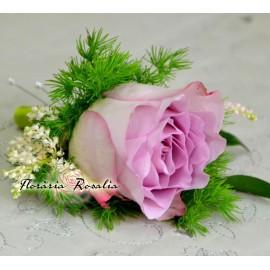 Cocarda cu trandafir mov
