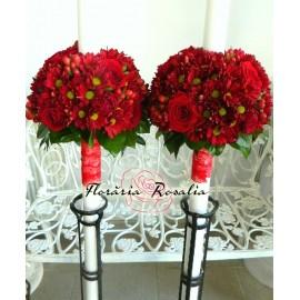 Lumanari u trandafiri si crizanteme