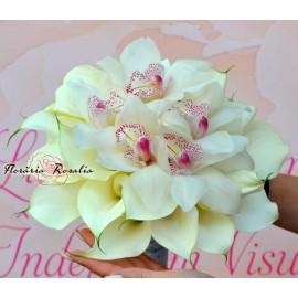 Buchet cale albe si orhidee