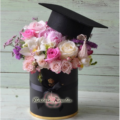 Cutie absolvire roz
