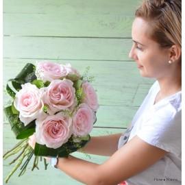 Buchet 7 trandafiri Princesse Charlene