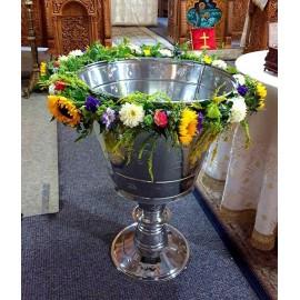 Aranjament cristelnita cu floarea soarelui