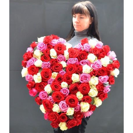 Inima cu 101 trandafiri
