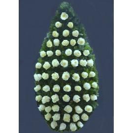 Coroana cu 60 trandafiri albi