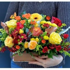 Carte cu flori de toamna