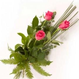 Buchet 3 trandafiri roz