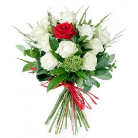 Buchet 11 trandafiri bicolori
